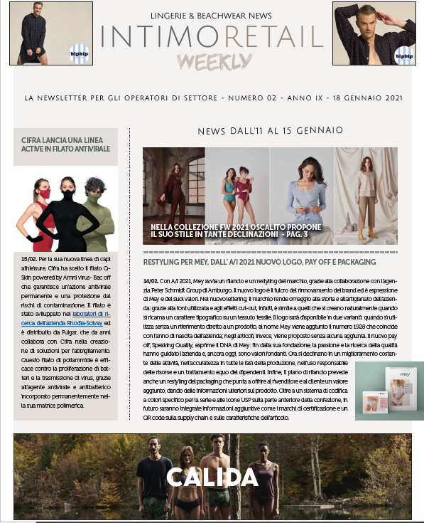 INTIMO RETAIL WEEKLY N.2 -2021