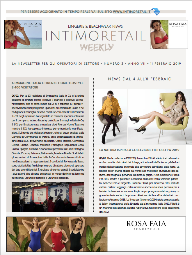 intimo retail weekly n.5-2019
