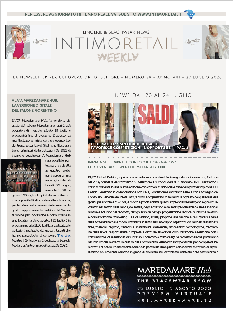INTIMO RETAIL WEEKLY N.29-2020