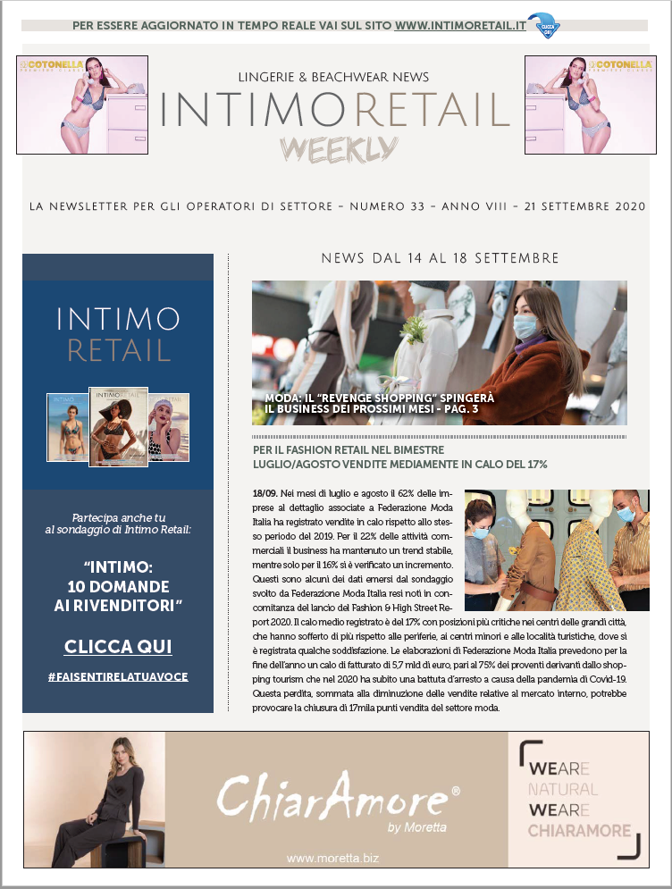 Intimo Retail Weekly n.33-2020