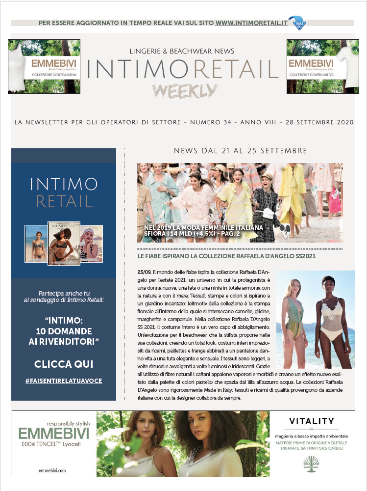 Intimo Retail Weekly n.34-2020