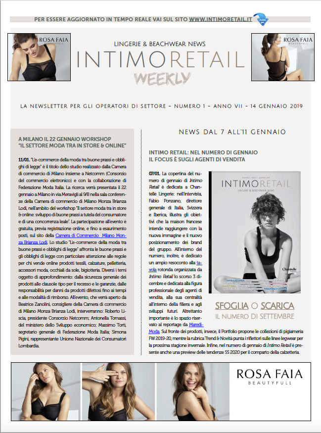 intimo retail weekly n.1-2019