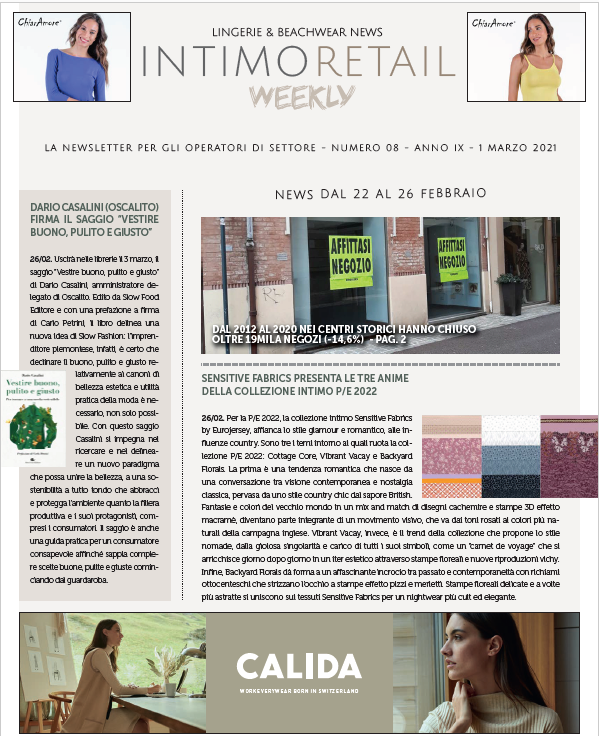 intimo retail weekly n.8
